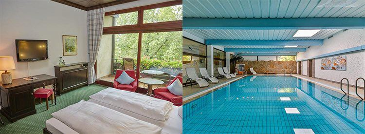 Hotelgutschein: 2 ÜN in Unterfranken in ruhiger Lage inkl. Frühstück, Hallenbad & Sauna für 59,99€ p.P.