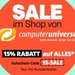 15% Rakuten Gutschein auf alles von computeruniverse – z.B. Telekom Speedport Smart Router für 101,15€ (statt 115€)