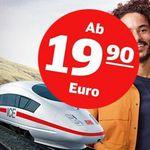 Deutsche Bahn Tickets ab 19,90€ pro Strecke   auch für Fahrten über 250 km