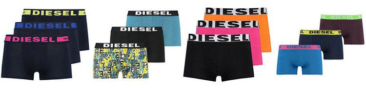 3er Set Diesel Boxershorts   verschiedene Farben für je 20,86€ (statt 33€)