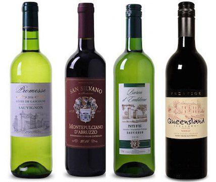 4 Weine für je 3,99€ pro Flasche (6 Flaschen MBW)
