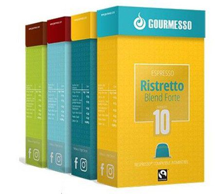 Gourmesso Espressobox Größe M (200 Kapseln) für 39,95€
