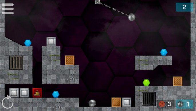 Hexasmash Pro   Wrecking Ball Physics Puzzle (Android) gratis (statt 3,39€)