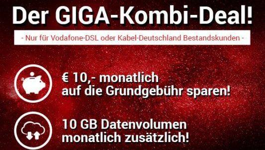 Div. Smartphones ab 4,95€  (z.B. Galaxy S8) + Vodafone Red M mit 14 GB LTE für 36,99€ mtl. (nur Bestandskunden)
