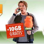 Top! Telekom Netz: 100 Minuten in alle .de Netze + 2GB Datenflat bis zu 42.2Mbit/s für nur 8,95€ mtl.