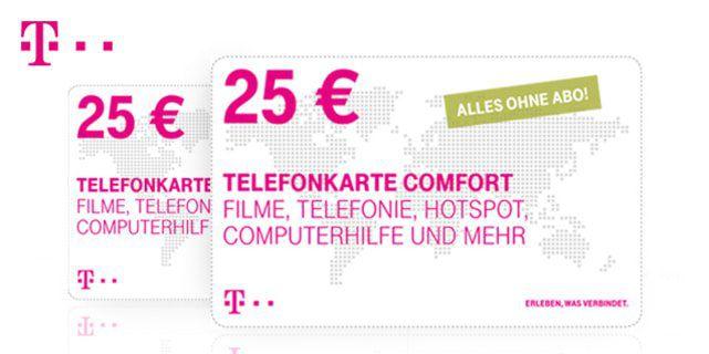 2 x 25€ Telekom Telefonkarte für 35€