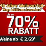 Weinvorteil – Mega Jubiläums-Ausverkauf: 80 Weine ab 2,69€ + 5€ Rabatt ab 80€