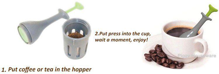 Kaffee  / Teepresse für unterwegs für 2,45€