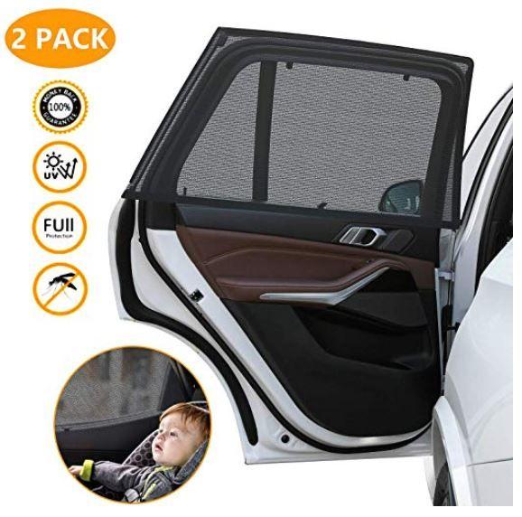 2x Stretchbarer Sonnenschutz für die Autotür für 3,99€ (statt 8€)   Prime