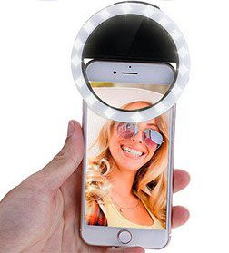 Dimmbarer Selfie Ringblitz mit 36 LED für 2,71€
