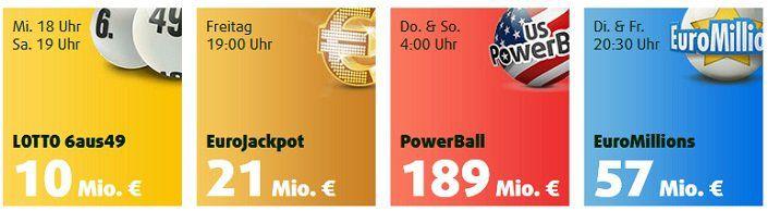 12 Lotto Tipps (10 Mio. Jackpot) + 35 Rubbellose für 9,90€   nur Neukunden