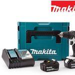 Makita DHP482RFJ 18 V Akku-Schlagbohrschrauber-Set mit 2 Akkus (3, 0 Ah) für 208,90€ (statt 233€)