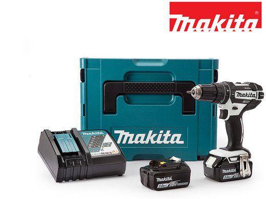 Makita DHP482RFJ 18 V Akku Schlagbohrschrauber Set mit 2 Akkus (3, 0 Ah) für 208,90€ (statt 233€)
