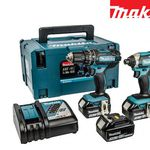Makita Combo-Set DLX2131JX1 – Bohr- und Schlagschrauber + 3 Akkus in Koffer für 328,90€ (statt 378€)