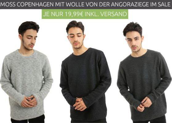 Moss Copenhagen Martin   Herren Woll Pullover in 3 Farben für je 19,99€