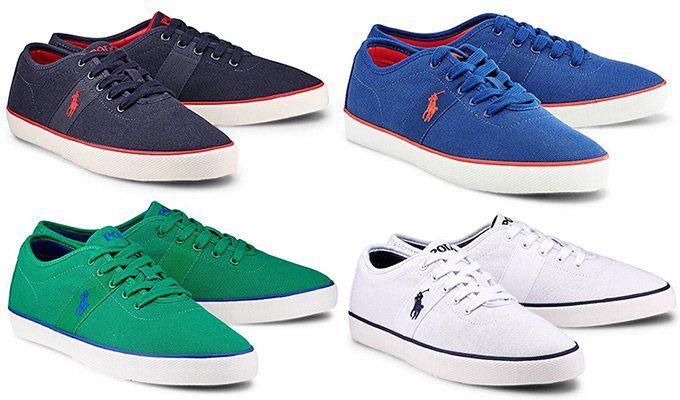 Filialieferung! POLO Ralph Lauren Sneaker HALFORD in 4 Farben für je 34,97€ (statt 55€)