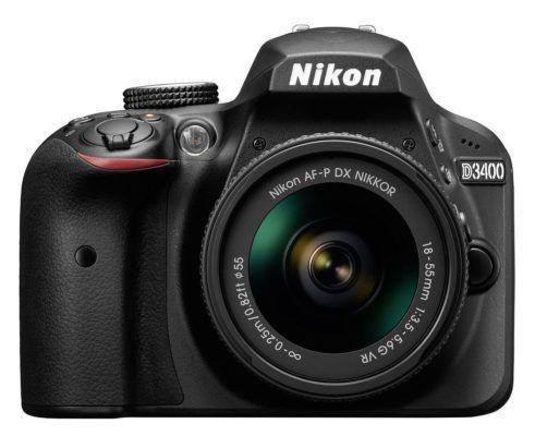 Nikon D3400 Kit   DSLR Kamera mit AF P 18 55 VR für 349,99€ (statt 409€)