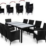 17-teilige Deuba Polyrattan Sitzgruppe in Schwarz ab 331,46€ (statt 449€)