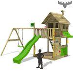 Fatmoose GroovyGarden Combo XXL Spielturm mit Kletternwand, Rutsche und Schaukel für 699,95€ (statt 782€)