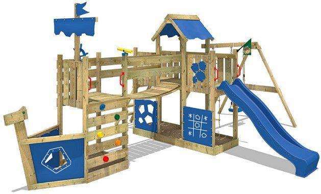 WICKEY ArticFlyer   Spielhaus mit Kletterturm, Schaukel und Rutsche für 599,95€ (statt 720€)