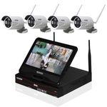 Inkovideo 4 x Netzwerkkamera mit 4-Kanal-Rekorder mit Monitor für 219,90€