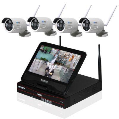 Inkovideo 4 x Netzwerkkamera mit 4 Kanal Rekorder mit Monitor für 219,90€
