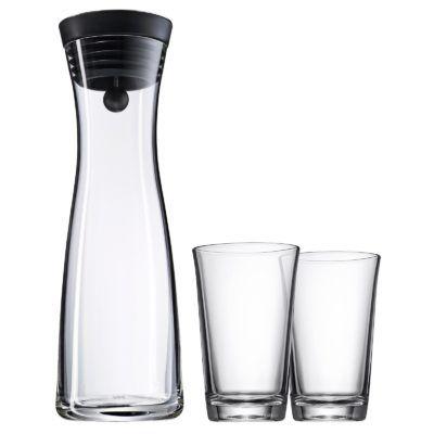 VORBEI! WMF Wasserkaraffe Basic 1 Liter + 2 Gläser für 29,95€