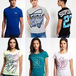 Superdry T-Shirts für Damen und Herren – über 50 verschiedene Modelle für 14,95€