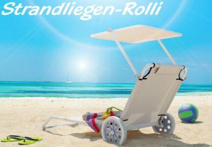 OSKAR Alu Strandliegen Rolli mit Dach im Doppelpack für 49,90€