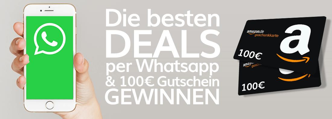 Die besten Deals Gratis per WhatsApp! 2x 100€ Amazon.de Gutschein gewinnen + GRATIS Jahresabo geschenkt