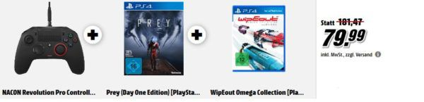 NACON Revolution Pro Controller + Prey (Day One Edition) + WipEout Omega Collection für 79,99€  uam. im Media Markt Dienstag Sale