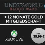 "12 Monate Xbox Live Gold + ""Underworld Blood Wars"" HD Stream für 35,99€"
