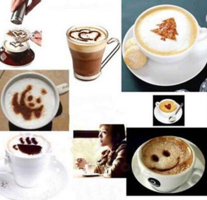 16 Milchschaum Schablonen für Latte Art für 0,94€
