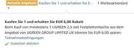 UGREEN Festplattentasche für 4,99€