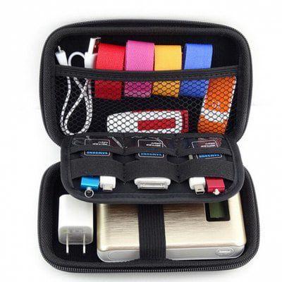 Universelle Tasche für Powerbanks, Festplatten etc mit mehreren Taschen für 2,72€
