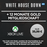 "12 Monate Xbox Live Gold + ""White House Down"" HD Stream für 35,99€"