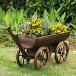 Dekokarre von iKayaa für den Garten oder Terrasse aus Holz für ~20,30€