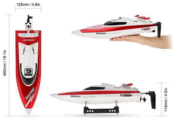 GoolRC GC001   High Speed Racing RC Boot mit bis zu 30km/h für ~30,15€