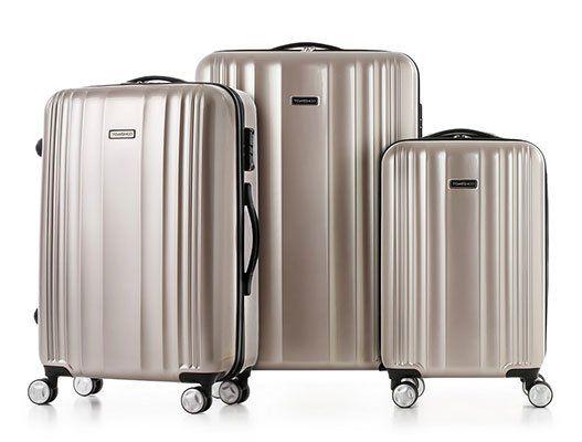 TOMSHOO   Hardcase Koffer im 3er Set in Gold oder Rot für je ~60,60€