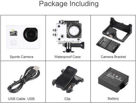 Full HD Actioncam in 2 Farben (Wifi, 12MP, 30FPS, 140° Weitwinkel) für je 14,10€