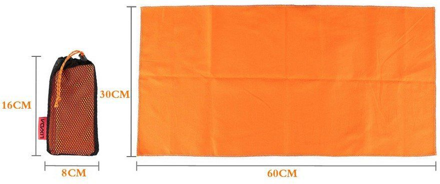 Mikrofaser Handtuch (60x30)   saugstark, leicht & schnell trocknend für 0,85€