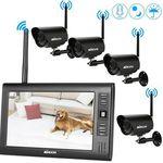 KKmoon 4CH WLAN Kamerasystem mit 4 Kameras inkl. 7″ TFT & Zubehör für ~145€ (statt 200€)