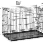 iKayaa Hundekäfig (91x58x63cm) mit 2 Türen aus Metall für ~21€ (statt 39€)