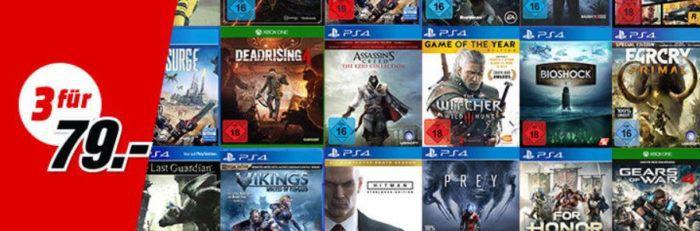 3 Konsolen oder PC Games für nur 49€ oder 79€ beim Media Markt
