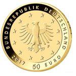 50€ Goldmünze BRD 2017 Lutherrose 999,9er Gold im offiziellen Etui für 389€
