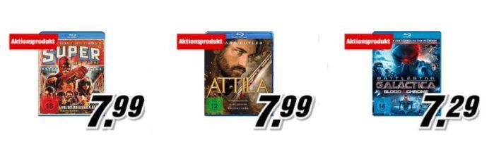 Media MArkt: 3 Actionfilme auf Blu ray für 18€