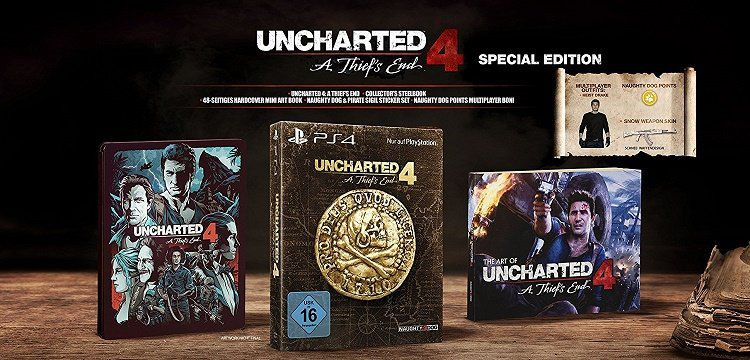 Uncharted 4   A Thiefs End Special Edition (PS4) für 24,99€ (statt 34€)
