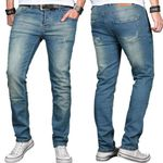 Salvarini Basic Herren Jeans Regular Slim für je 29,90€