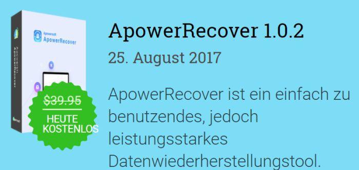 Nur für kurze Zeit: ApowerRecover Jahreslizenz kostenlos