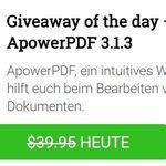 Nur bis 10 Uhr: ApowerPDF 3 Jahreslizenz kostenlos
